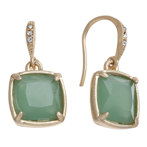 Buy Carolee Gold Toned Pave Cushion Drop Earrings Online at johnlewis.com
