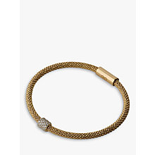 Buy Links of London Silver Plated Stardust Bead Bracelet, Black Online at johnlewis.com