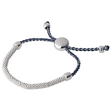 Buy Links of London Effervescence XS Sterling Silver Cord Bracelet, Blue Online at johnlewis.com