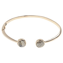 Buy John Lewis Gemstones 18ct Gold Plated Hinged Cuff Bangle Online at johnlewis.com