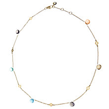 Buy John Lewis Gemstones Multi Heart Drop Short Necklace Online at johnlewis.com