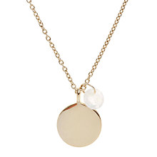 Buy John Lewis Gemstones 18ct Gold Plated Round Disc With Charm Pendant Necklace Online at johnlewis.com