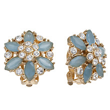 Buy Carolee Gold Toned Faceted Crystal Clip-On Earrings Online at johnlewis.com