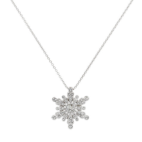 Buy Cachet London Snowflake Swarovski Crystal Pendant Necklace Online at johnlewis.com