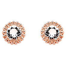 Buy Finesse Rose Gold Swarovski Crystal Pom Pom Stud Earrings Online at johnlewis.com