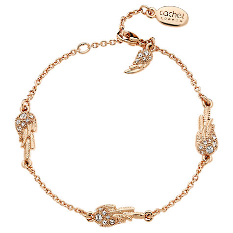 Buy Cachet London Wing Swarovski Crystal Bracelet Online at johnlewis.com