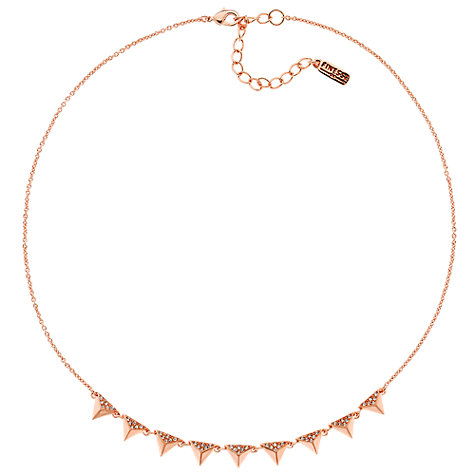 Buy Finesse Rose Gold Plated Swarovski Crystal Pyramid Collar Necklace Online at johnlewis.com