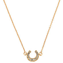Buy Cachet London Rose Gold Plated Swarovski Crystal Horseshoe Pendant Online at johnlewis.com