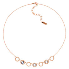 Buy Finesse Pom Pom Swarovski Crystal Collar Necklace, Rose Gold Online at johnlewis.com
