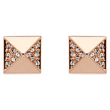 Buy Finesse Swarovski Crystal Pyramid Stud Earrings, Rose Gold Online at johnlewis.com