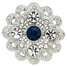 Buy Downton Abbey Collection Silver Plated Crystal And Montana Edwardian Filigree Brooch Online at johnlewis.com