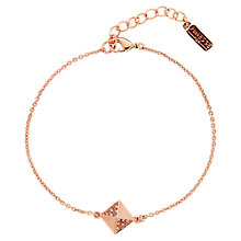 Buy Finesse Rose Gold Plated Swarovski Crystal Pyramid Bracelet Online at johnlewis.com