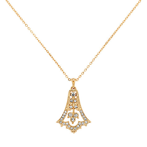 Buy Downton Abbey Collection Edwardian Bell Gold Plated Drop Pendant Necklace Online at johnlewis.com