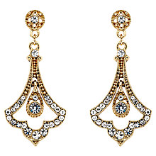 Buy Downton Abbey Collection Gold Plated Crystal Edwardian Fleur Drop Earrings Online at johnlewis.com