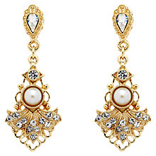 Buy Downton Abbey Collection Gold Plated Crystal Faux Pearl Belle Epoch Drop Earrings Online at johnlewis.com