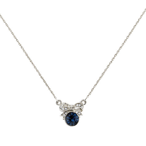 Buy Downton Abbey Collection Silver Plated Edwardian Montana Bow Necklace Online at johnlewis.com