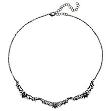 Buy Downton Abbey Collection Jet Plated Crystal Belle Epoch Scallop Necklace Online at johnlewis.com