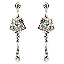 Buy Downton Abbey Collection Silver Plated Crystal Starburst Drop Earrings Online at johnlewis.com