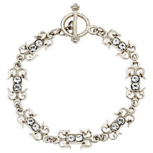 Buy Downton Abbey Collection Silver Plated Crystal Belle Epoch Petit Bracelet Online at johnlewis.com