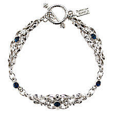 Buy Downton Abbey Collection Silver Plated Crystal Montana French Bracelet Online at johnlewis.com