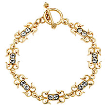 Buy Downton Abbey Collection Gold Plated Crystal Belle Epoch Petit Bracelet Online at johnlewis.com