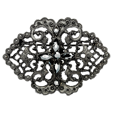 Buy Downton Abbey Collection Jet Plated Crystal Belle Epoch Filigree Pin Brooch Online at johnlewis.com