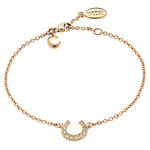 Buy Cachet London Rose Gold Plated Swarovski Crystal Horseshoe Bracelet Online at johnlewis.com