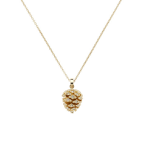 Buy Cachet London Pine Cone Swarovski Crystals Pendant Necklace Online at johnlewis.com