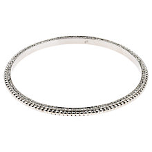 Buy Finesse Rhodium Plated Swarovski Crystal Pom Pom Bangle Online at johnlewis.com