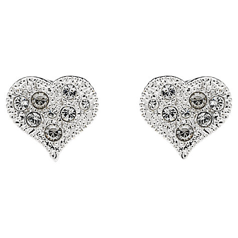 Buy Cachet London Classic Heart Swarovski Crystal Stud Earrings Online at johnlewis.com