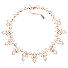Buy Finesse Polished Collar Link Necklace, Rose Gold Online at johnlewis.com