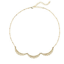 Buy Downton Abbey Collection Gold Plated Belle Epoch Scallop Collar Necklace Online at johnlewis.com