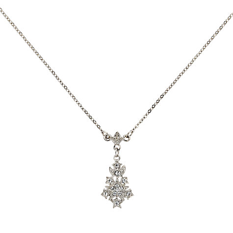 Buy Downton Abbey Collection Silver Plated Belle Epoch Starburst Pendant Necklace Online at johnlewis.com