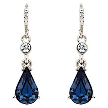 Buy Downton Abbey Collection Silver Plated Crystal And Montana Pear Drop Earrings Online at johnlewis.com