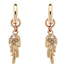 Buy Cachet London Wing Rose Gold And Swarovski Crystal Hoop Earrings Online at johnlewis.com