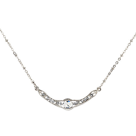 Buy Downton Abbey Collection Silver Plated Crystal Edwardian Collar Necklace Online at johnlewis.com