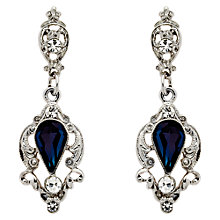 Buy Downton Abbey Collection Silver Plated Crystal Belle Epoch Drop Earrings Online at johnlewis.com