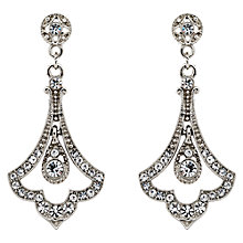 Buy Downton Abbey Collection Silver Plated Crystal Edwardian Fleur Drop Earrings Online at johnlewis.com