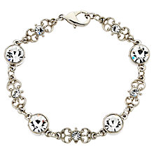 Buy Downton Abbey Collection Silver Plated Crystal Belle Epoch Bracelet Online at johnlewis.com