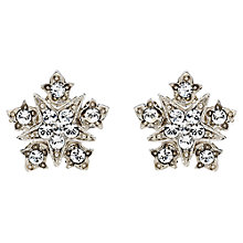 Buy Downton Abbey Collection Silver Plated Crystal Starburst Stud Earrings Online at johnlewis.com