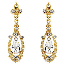 Buy Downton Abbey Collection Gold Plated Crystal Edwardian Drop Earrings Online at johnlewis.com