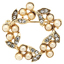 Buy Downton Abbey Collection Gold Plated Faux Pearl Belle Epoch Wreath Brooch Online at johnlewis.com