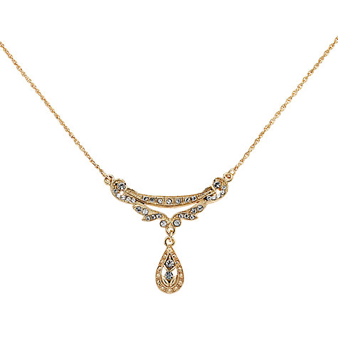 Buy Downton Abbey Collection Gold Plated Crystal Edwardian Swag Necklace Online at johnlewis.com