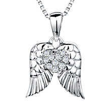 Buy Jools by Jenny Brown Sterling Silver Pave Wings Pendant, Rhodium Online at johnlewis.com