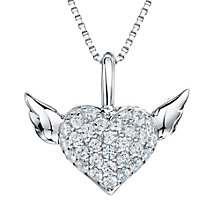 Buy Jools by Jenny Brown Sterling Silver Pave Heart Pendant, Rhodium Online at johnlewis.com