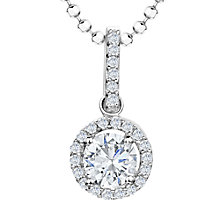 Buy Jools by Jenny Brown Sterling Silver Cubic Zirconia Round Pendant, Rhodium Online at johnlewis.com