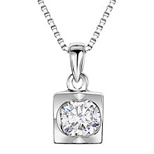 Buy Jools by Jenny Brown Sterling Silver Cubic Zirconia Square Pyramid Pendant, Rhodium Online at johnlewis.com