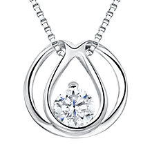 Buy Jools by Jenny Brown Sterling Silver Cubic Zirconia Infinity Ovals Pendant, Rhodium Online at johnlewis.com