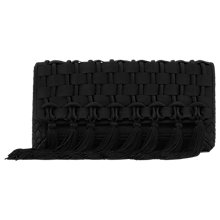 Buy Reiss Tassel Weave Clutch Bag, Black Online at johnlewis.com