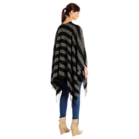 Buy Warehouse Candy Stripe Cape, Dark Grey Online at johnlewis.com